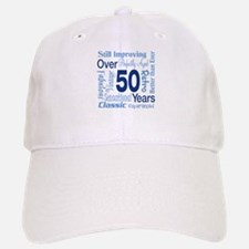 Over 50 years, 50th Birthday Baseball Baseball Cap