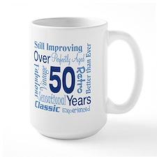 Over 50 years, 50th Birthday Mug