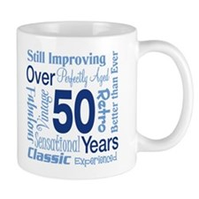 Over 50 years, 50th Birthday Small Mug