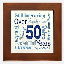 Over 50 years, 50th Birthday Framed Tile