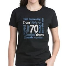 Over 70 years, 70th Birthday Tee