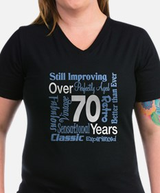 Over 70 years, 70th Birthday Shirt