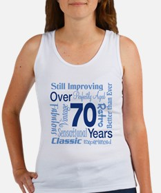 Over 70 years, 70th Birthday Women's Tank Top