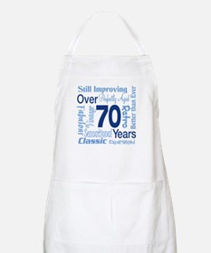 Over 70 years, 70th Birthday BBQ Apron