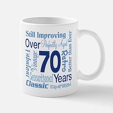 Over 70 years, 70th Birthday Small Small Mug