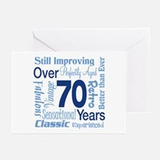Over 70 years, 70th Birthday Greeting Cards (Pk of