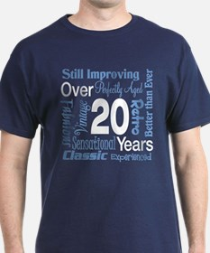 Over 20, 20th Birthday T-Shirt