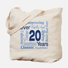 Over 20, 20th Birthday Tote Bag