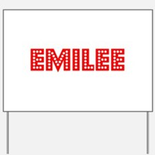 Retro Emilee (Red) Yard Sign