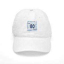 Over 80 years, 80th Birthday Baseball Cap