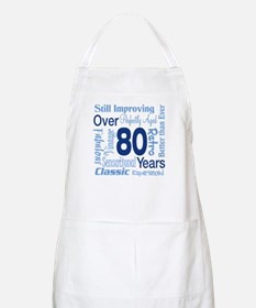 Over 80 years, 80th Birthday BBQ Apron