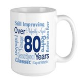 80th birthday gifts Large Mugs (15 oz)