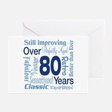 Over 80 years, 80th Birthday Greeting Cards (Pk of