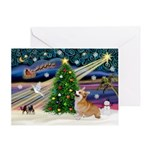 XmasMagic/Corgi (7b) Greeting Card