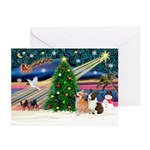 Xmas Magic & corgi Greeting Cards (Pk of 10)