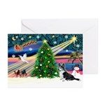 XmasMagic/Corgi (12BW) Greeting Cards (Pk of 10)