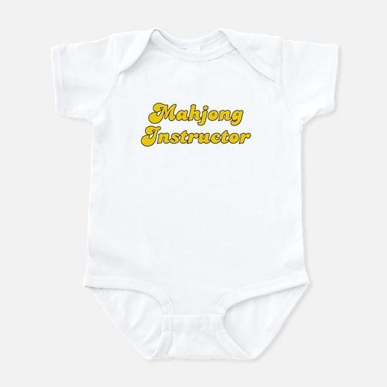 Retro Mahjong Ins.. (Gold) Infant Bodysuit
