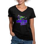 Winter Rules Women's V-Neck Dark T-Shirt