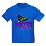 Winter Rules Kids Dark T-Shirt