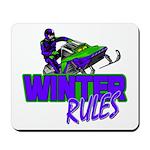 Winter Rules Mousepad