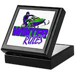 Winter Rules Keepsake Box