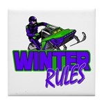 Winter Rules Tile Coaster