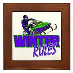 Winter Rules Framed Tile