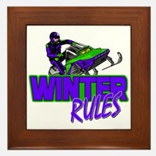 Winter Rules Framed Tile