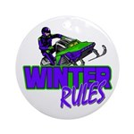Winter Rules Ornament (Round)