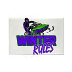 Winter Rules Rectangle Magnet