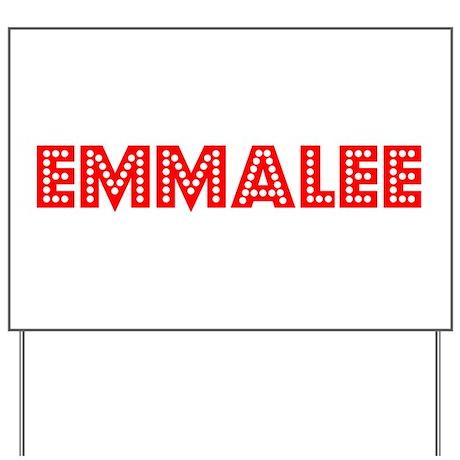 Retro Emmalee (Red) Yard Sign