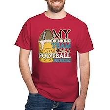 Football Drinking Team T-Shirt