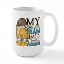 Football Drinking Team Mug