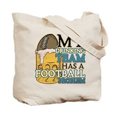 Football Drinking Team Tote Bag