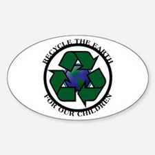 Recycle the Earth Oval Decal