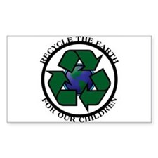 Recycle the Earth Rectangle Decal