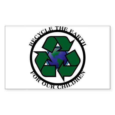 Recycle the Earth Rectangle Sticker