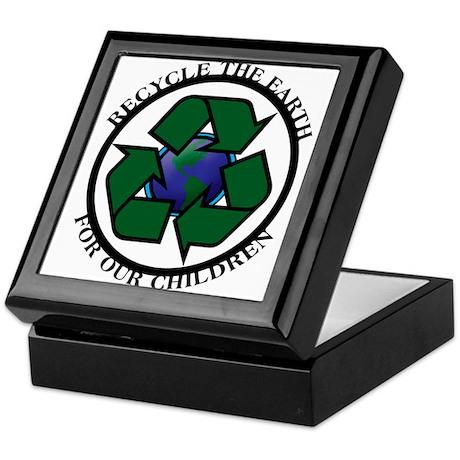 Recycle the Earth Keepsake Box