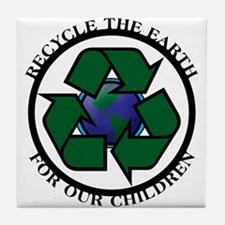 Recycle the Earth Tile Coaster