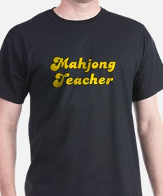 Retro Mahjong Tea.. (Gold) T-Shirt