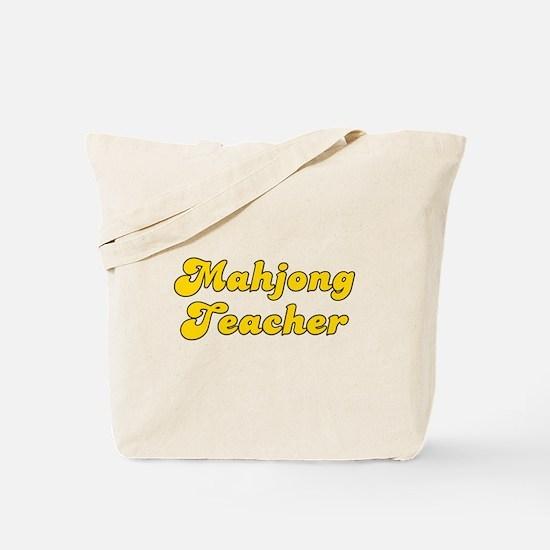 Retro Mahjong Tea.. (Gold) Tote Bag