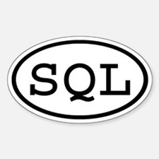SQL Oval Oval Decal