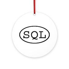 SQL Oval Ornament (Round)