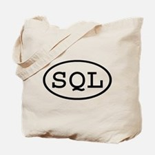 SQL Oval Tote Bag