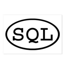 SQL Oval Postcards (Package of 8)