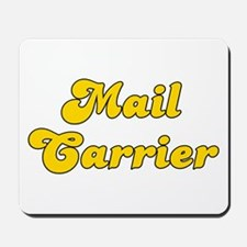 Retro Mail carrier (Gold) Mousepad