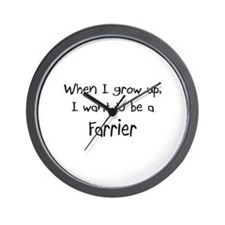 When I grow up I want to be a Farrier Wall Clock