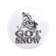 """Got Snow Distressed black 3.5"""" Button (100 pa"""