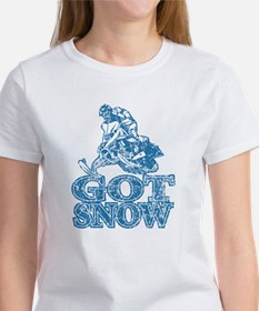 Got Snow Distressed Image in Tee