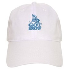 Got Snow Distressed Image in Baseball Cap